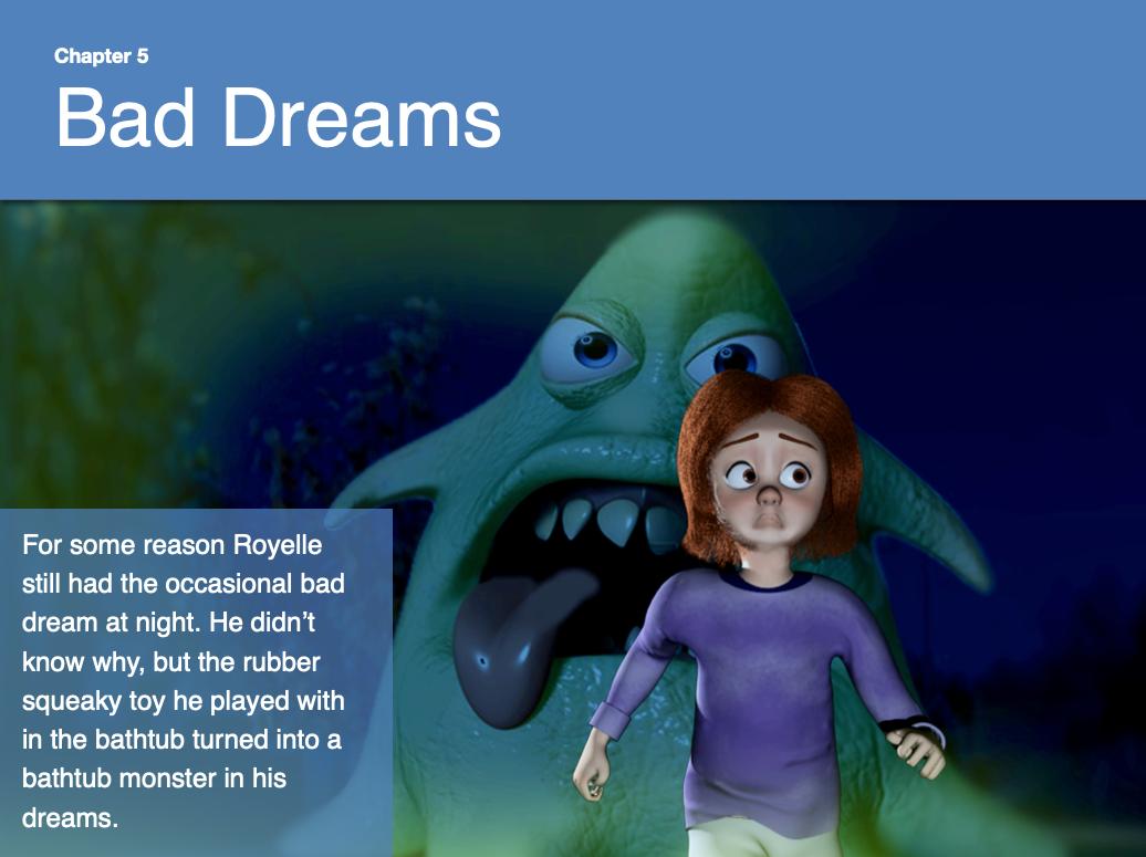 Child afraid of bad dreams
